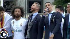 Cristiano Ronaldo llevó la voz cantante en Cibeles.