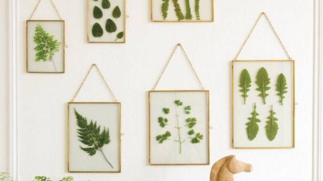 Pintar cuadros con hojas de manera fácil