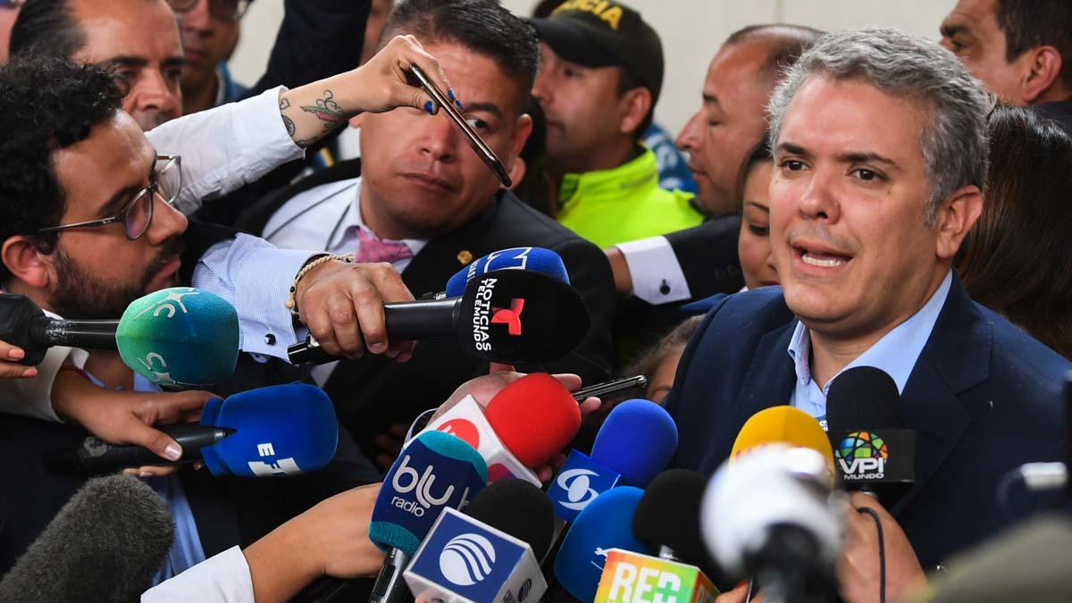 Iván Duque, candidato presidencial colombiano. Foto: AFP
