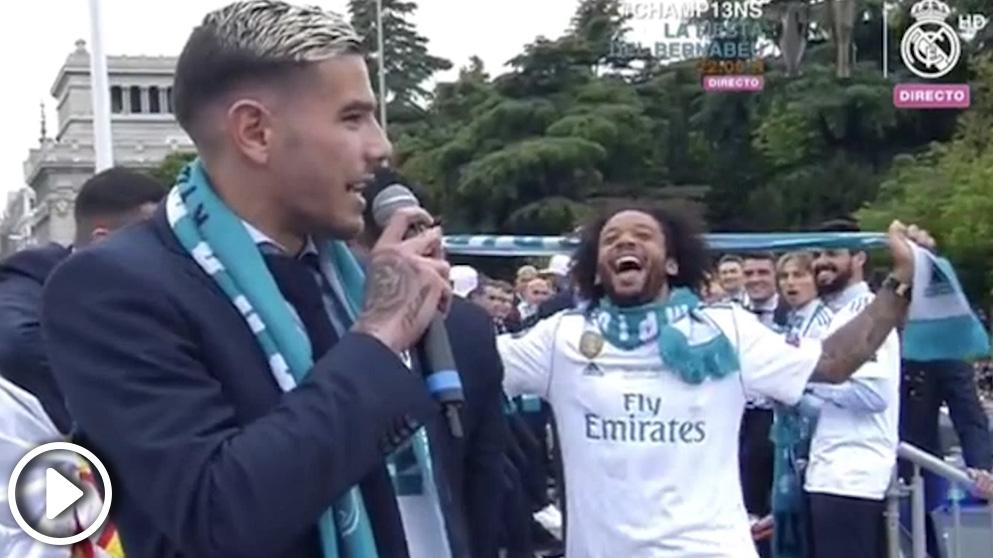 Theo se acordó del Atlético durante la celebración en Cibeles.