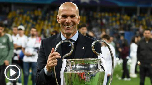 Zidane con la Champions. (AFP)