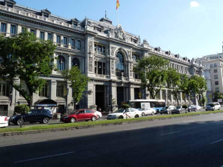 La sede del Banco de España.
