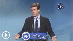 Pablo Casado, en rueda de prensa.