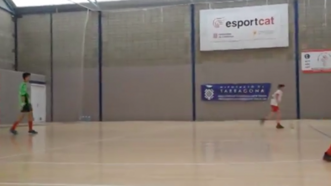 Un equipo infantil de fútbol sala de Aragón juega la final de la liga «nacional»… catalana