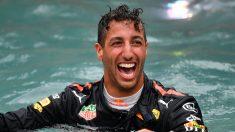 Daniel Ricciardo celebra un triunfo en un Gran Premio de esta temporada.