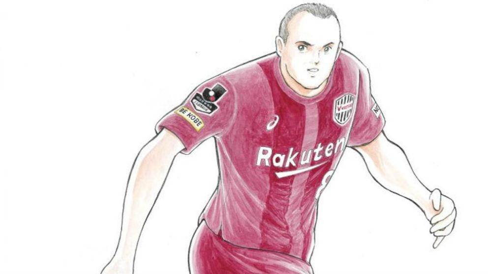 Yoichi Takahashi ha dibujado a Iniesta.