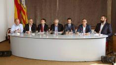 Presentación de la junta directiva de Societat Civil Balear. (EFE)