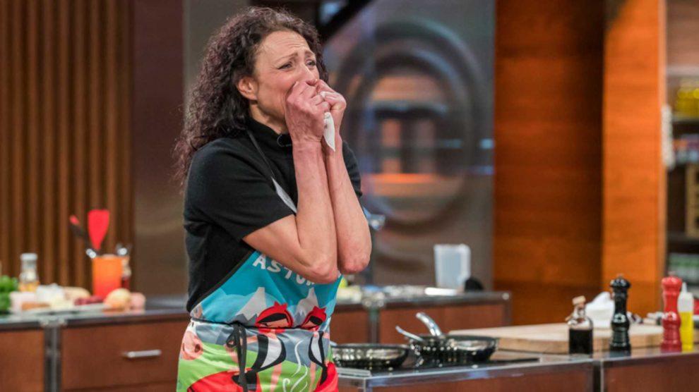 Oxana es puro nervio cocinando en 'MasterChef'
