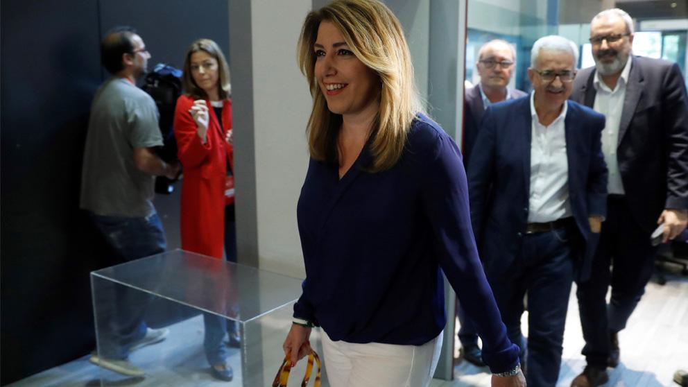 Susana Díaz llegando al Comité Federal del PSOE (Foto: EFE)