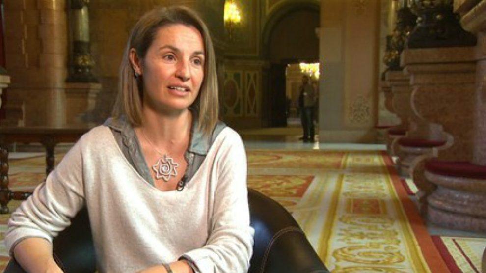 Anna Caula, portavoz de ERC en el Parlament.