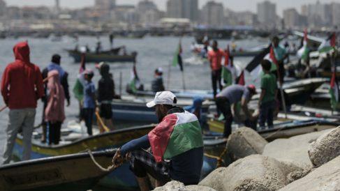 Israel detiene a un barco con manifestantes palestinos (AFP).