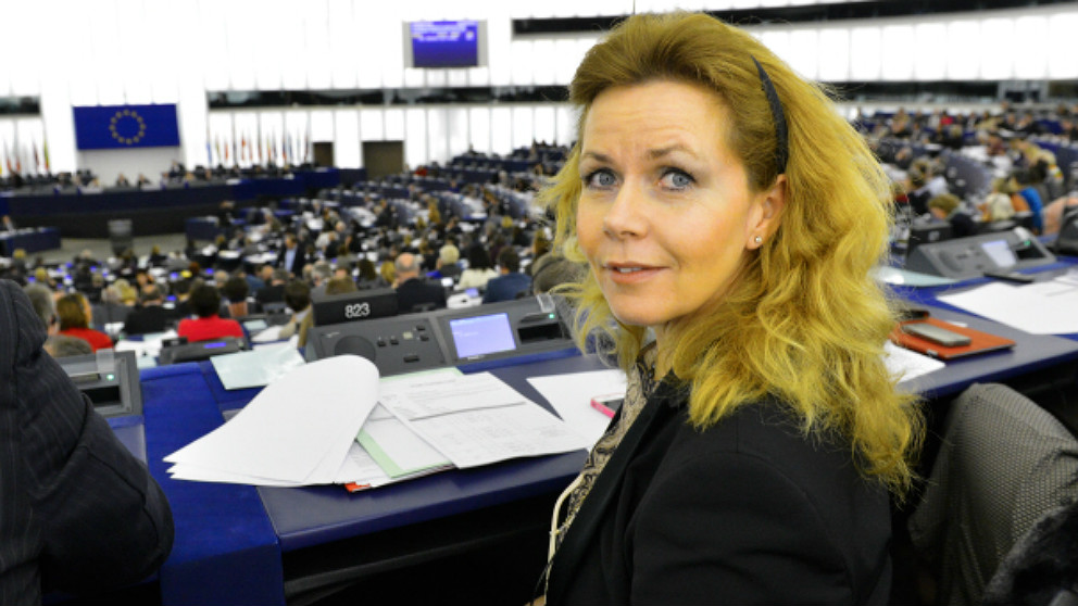 Cecilia Wilkstrom, presidenta de la Comisión de Peticiones del Parlamento Europeo.