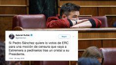 Gabriel Rufián, diputado de ERC en el Congreso. (Foto: EFE) | Moción de censura Rajoy