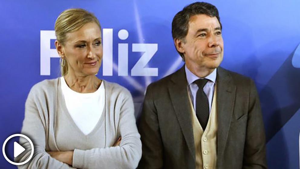 Los expresidentes de la Comunidad de Madrid, Cristina Cifuentes e Ignacio González.