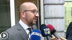 Charles Michel, primer ministro belga, envía sus condolencias a los familiares de las víctimas en Lieja.