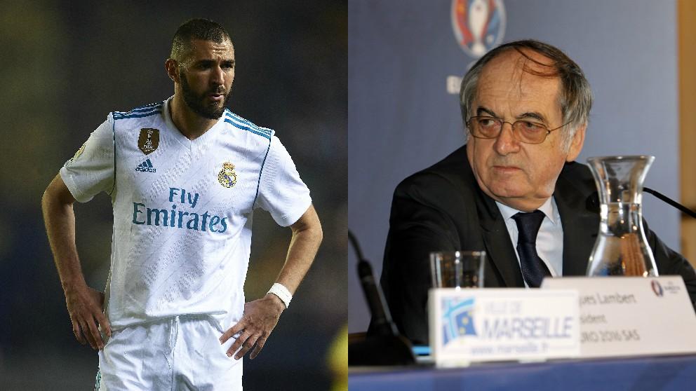 Benzema y Le Graet. (Getty)