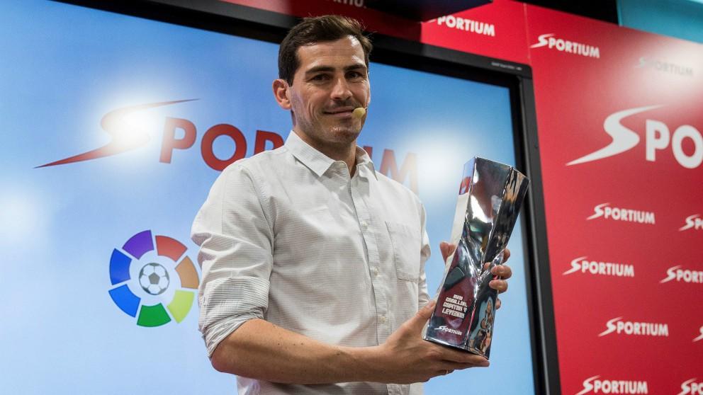 Casillas, en su acto promocional de Sportium. (EFE)