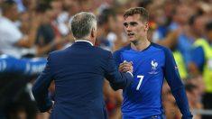 Deschamps y Griezmann durant un partido con Francia. (Getty)