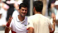 Djokovic felicita a Munar por su partido. (Getty)