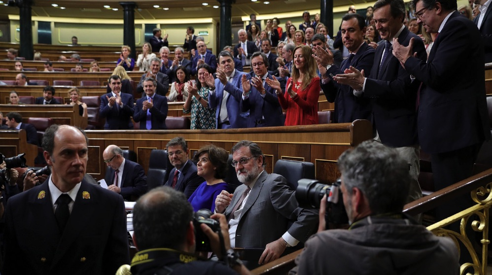 El presidente Mariano Rajoy en el Congreso. (Foto. GPP)