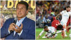 Laporta criticó a Sergio Ramos por su acción en la lesión de Salah. (Getty)