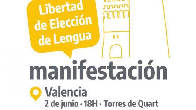 Valencia acogerá este sábado movilizaciones por la libre elección de la lengua