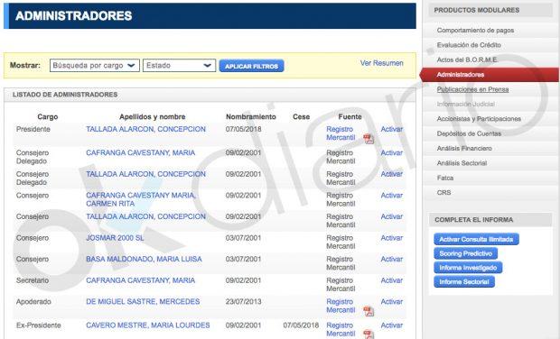 Adminsitradores de Subastas Segre (Registro mercantil).