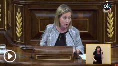 La diputada de Coalición Canaria, Ana Oramas, en su intervención en la moción de censura de Sánchez a Rajoy