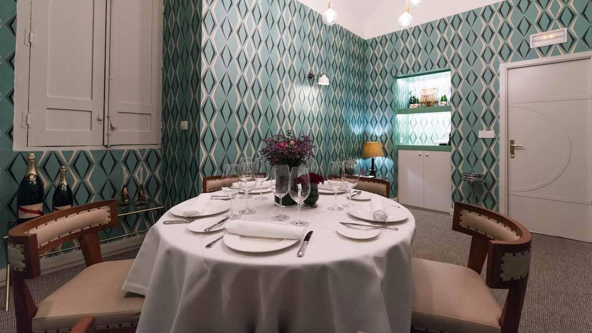 Reservado del restaurante Arahy.