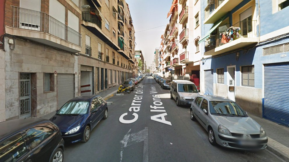 Calle Capitán Alfonso Vives de Elche.