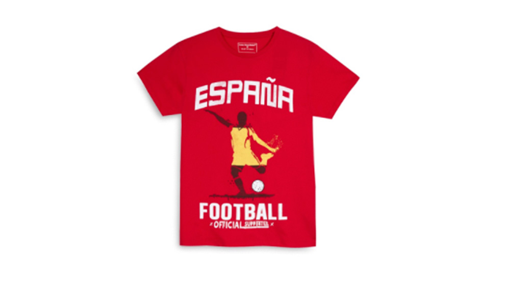 Camisetas de España de Primark (Foto: Primark Web)