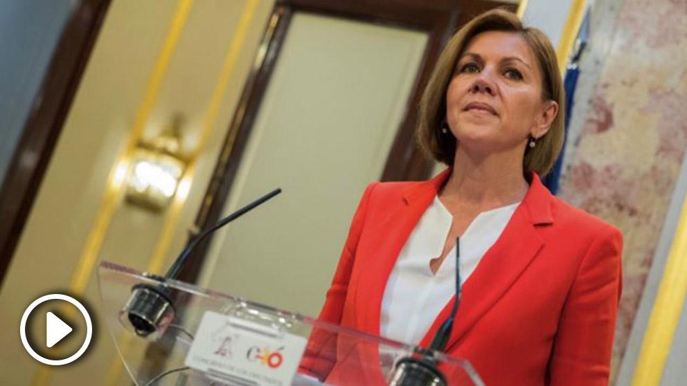 María Dolores de Cospedal, este jueves. (Foto. GPP)
