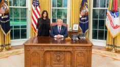 Kim Kardashian en el Despacho Oval con Donald Trump. (Foto: @realDonaldTrump)