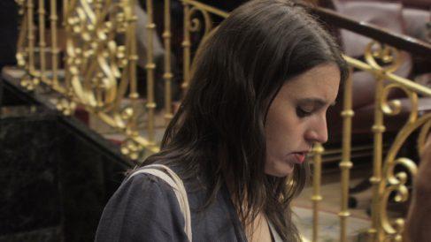 Irene Montero en la moción de censura. (Foto: Francisco Toledo)