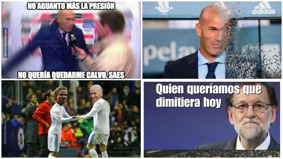 Zinedine Zidane dejó de manera sorprendente el Real Madrid y las redes se incendiaron con memes.