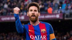 Lionel Messi celebra un gol con el Barcelona. (EFE)
