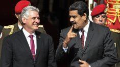 Miguel Díaz-Canel y Nicolás Maduro. (Foto: AFP)