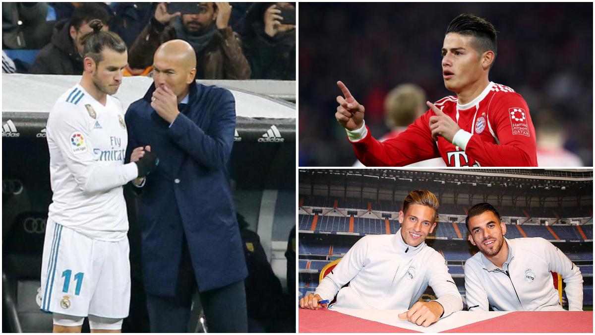 Zidane y Bale, James Rodríguez, Llorente y Ceballos.