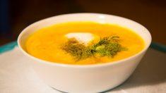 Receta de Sopa fría de calabaza y curry fácil de preparar