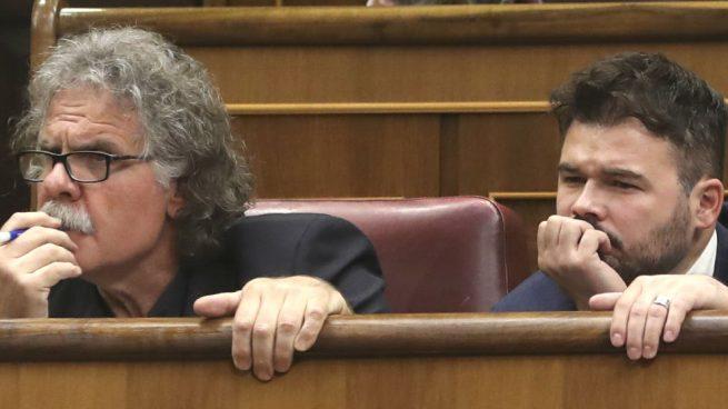 Rufián y Tardà seguirán cobrando del Estado cuando se convoquen elecciones