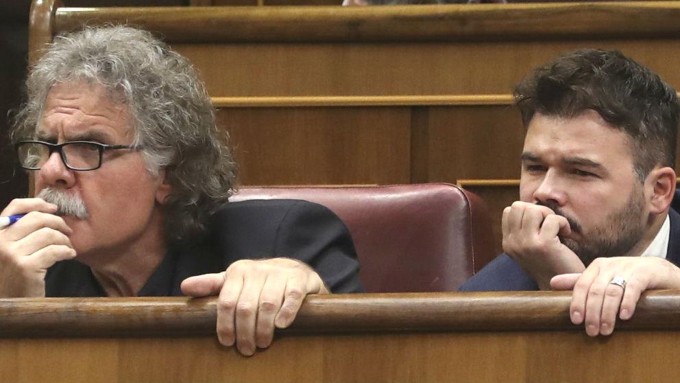 Joan Tardà y Gabriel Rufián, en el Congreso.