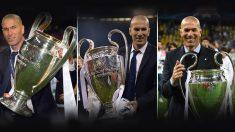 Zidane ha logrado un triple histórico en la Champions. Nadie en la era moderna lo ha conseguido. (AFP)