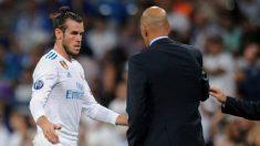 Bale y Zidane, en un partido de esta temporada.