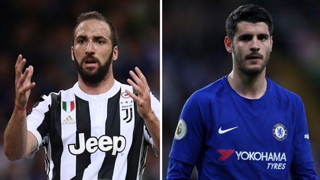 La Juve ofrece al Chelsea el trueque del verano: Higuaín por Morata