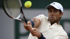 Fernando Verdasco, en su victoria ante Dimitrov en Roland Garros. (AFP)