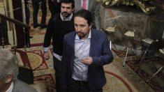 Pablo Iglesias durante el debate de la moción de censura. (Foto: Francisco Toledo).