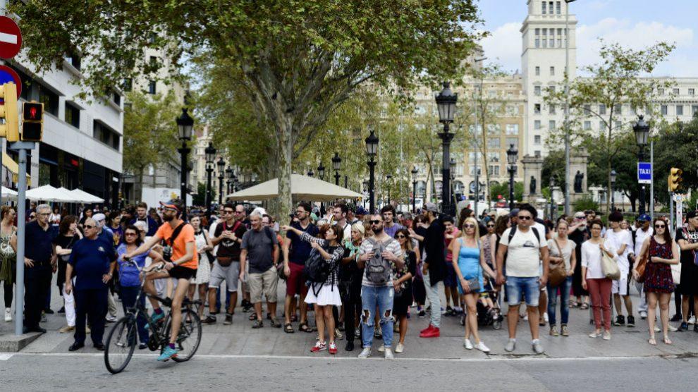 Un grupo de turistas británicos.