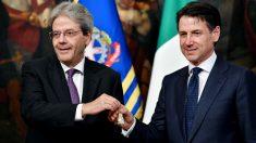 Giuseppe Conte y el presidente de la República, Sergio Mattarella (AFP).