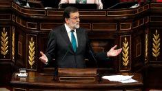 Mariano Rajoy en el debate de la moción de censura. (Foto: EFE)