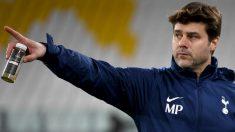 Mauricio Pochettino, en un entrenamiento con el Tottenham. (Getty)